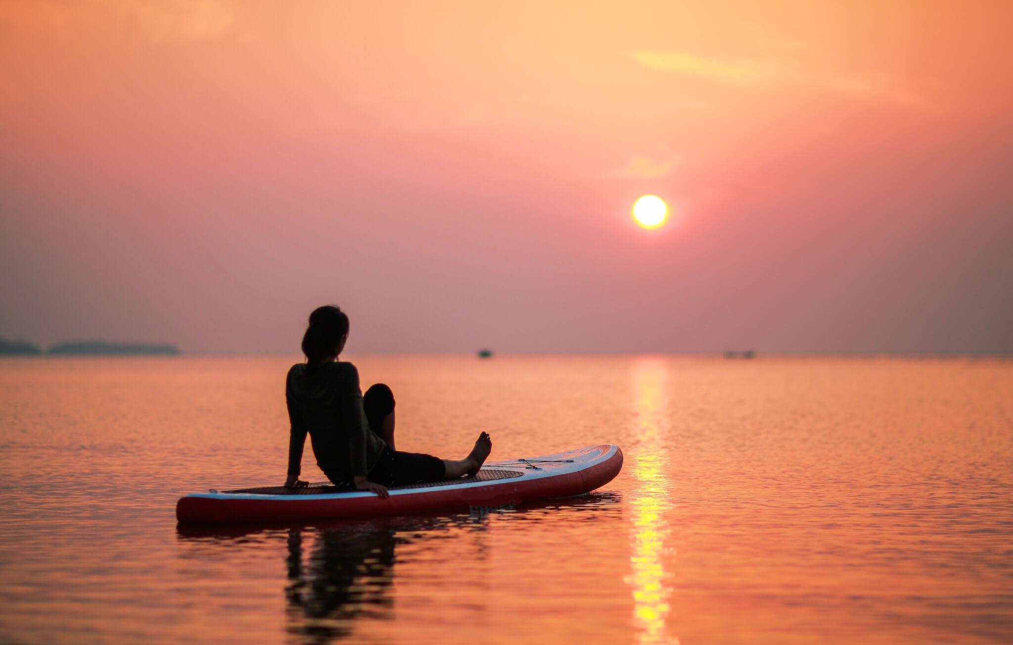 SUP Sonnenuntergang