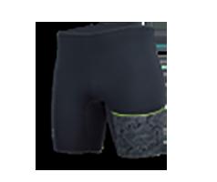 Airprene Short schwarz mit grünem Streifen