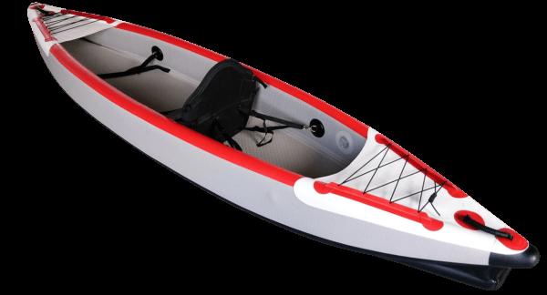 Aufblasbare Drop Stitch Kajaks 1-2 Personen weiß-rot