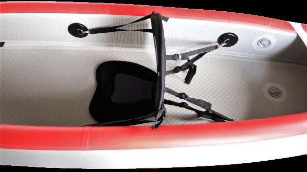 Aufblasbare Drop Stitch Kajaks 1-2 Personen weiß-rot Sitz