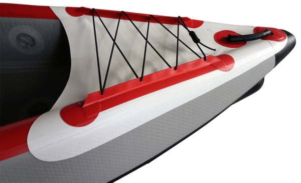 Aufblasbare Drop Stitch Kajaks 1-2 Personen weiß-rot Schnauze