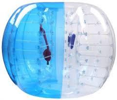 Bubble Soccer Ball Produktfoto blau und rot