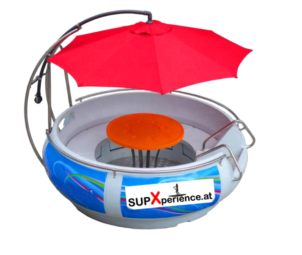 BBQ iLand Produktfoto mit SUPXperience Logo