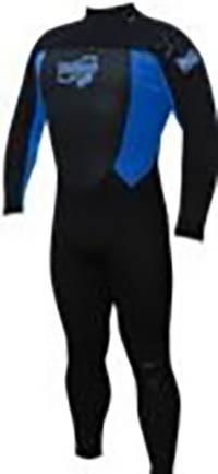Neopren Fully für Männer Schwarz-Blau