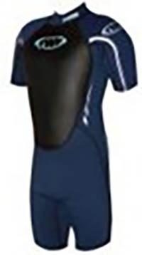 Neopren Shorty Schwarz-Marineblau