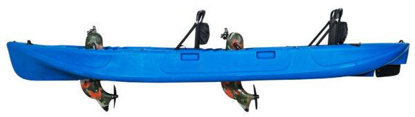 Wasser Bike Pedal Kajak 2 Sitzer Luxus Ausführung blau Seitenansicht