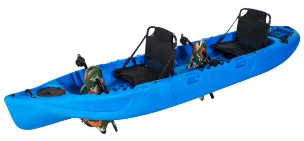 Wasser Bike Pedal Kajak 2 Sitzer Luxus Ausführung blau