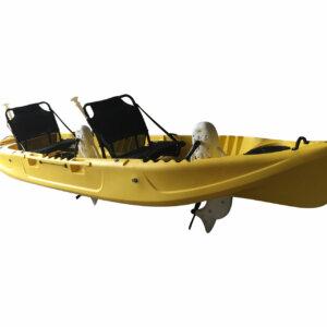 Wasser Bike Pedal Kajak 2 Sitzer Luxus Ausführung gelb Seitenansicht