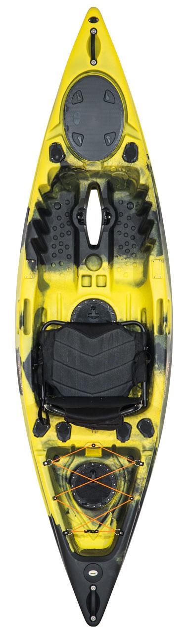 Wasser Bike Pedal Kajak 2 Sitzer Luxus Ausführung gelb