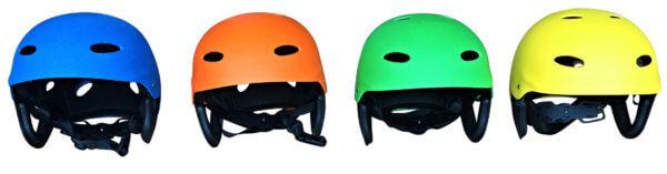 Wassersport Helme in vier Farben ( blau, orange, grün, gelb)