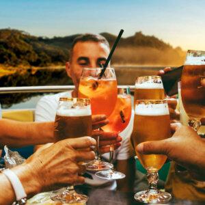 Bier trinken in Graz im Grill & Chill iLand auf der Mur