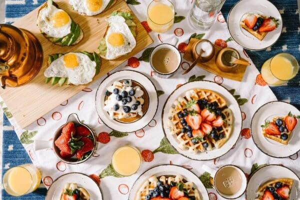 Frühstücken in Graz auf der Mur